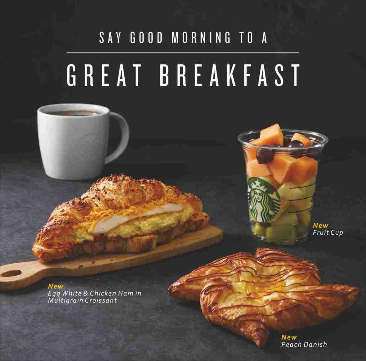 Starbucks Breakfast - food items